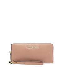 Jet Set Travel Leather Continental Wallet - BLUSH - 32S5GTVE9L