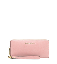 Jet Set Travel Leather Continental Wallet - BLOSSOM - 32S5GTVE9L