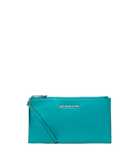 Bedford Large Leather Zip Wristlet - TURQUOISE - 32T4SBFW7L