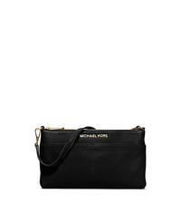 Bedford Large Leather Wristlet - BLACK - 32T5GBFW3L