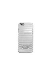 Striped Plastic Phone Case For iPhone 6 - SILVER - 32T5MELL4U