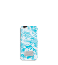 Pool-Print Phone Case For iPhone 6 - AQUAMARINE - 32T5SELL4U