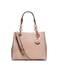 Cynthia Small Saffiano Leather Satchel - BLUSH - 30T5TCYS1L