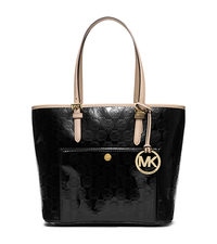Jet Set Medium Monogram Tote - BLACK - 30T5MTTT6Z