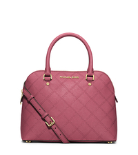 Cindy Medium Saffiano Leather Satchel - TULIP - 30F5GCPS2T