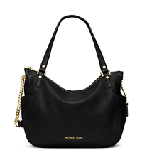 Chandler Large Leather Tote - BLACK - 30F5GCUE3L