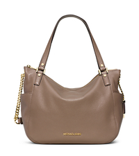 Chandler Large Leather Tote - DARK DUNE - 30F5GCUE3L