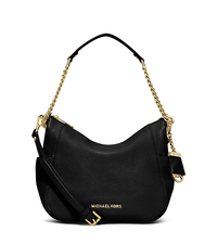 Chandler Medium Leather Shoulder Bag - BLACK - 30F5GCUL2L