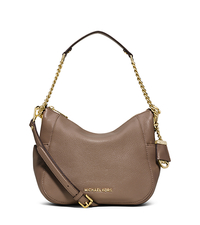 Chandler Medium Leather Shoulder Bag - DARK DUNE - 30F5GCUL2L