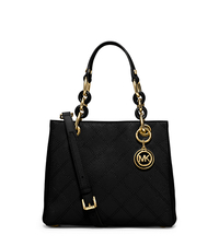 Cynthia Small Saffiano Leather Satchel - BLACK - 30F5GCYT1T