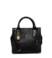 McKenna Small Leather Satchel - BLACK - 30F5GEKS1L