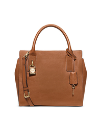 McKenna Medium Leather Satchel - LUGGAGE - 30F5GEKS2L