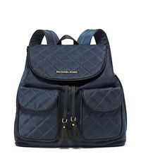 Kieran Large Quilted-Nylon Backpack - NAVY/BLACK - 30F5GKAB9C