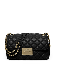 Sloan Large Quilted-Leather Shoulder Bag - BLACK - 30F5GSLL3L