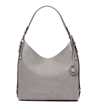 Bedford Large Leather Shoulder Bag - PEARL GREY - 30F5SBFL3L