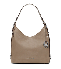 Bedford Large Leather Shoulder Bag - DARK TAUPE - 30F5SBFL3L