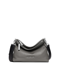 Jane Medium Leather Messenger - STEEL GREY - 30F5SJBM2L