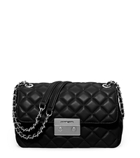 Sloan Large Quilted-Leather Shoulder Bag - BLACK - 30F5SSLL3L