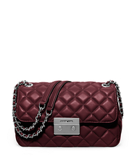 Sloan Large Quilted-Leather Shoulder Bag - MERLOT - 30F5SSLL3L