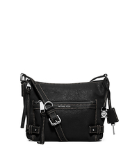 Abby Medium Leather Messenger - BLACK - 30F5SYBM2L