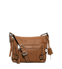 Abby Medium Leather Messenger - WALNUT - 30F5SYBM2L