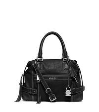 Abby Medium Leather Satchel - BLACK - 30F5SYBS2L