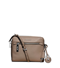 Zoey Medium Leather Messenger - DARK TAUPE - 30F5SZOM2L