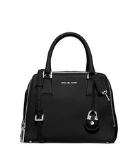 Zoey Medium Leather Satchel - BLACK - 30F5SZOS2L