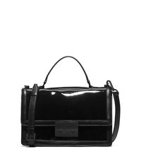 Callie Patent-Leather Messenger - BLACK - 30F5TCXM2A