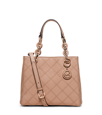 Cynthia Small Saffiano Leather Satchel - BLUSH - 30F5TCYT1T