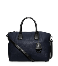 Campbell Large Leather Satchel - NAVY - 30F5TEPS3L
