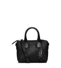 Campbell Extra-Small Two-Tone Leather Satchel - BLACK - 30F5TEPS5L