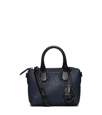Campbell Extra-Small Two-Tone Leather Satchel - NAVY - 30F5TEPS5L