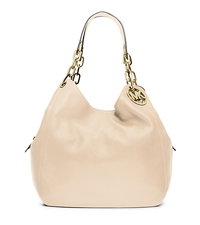 Fulton Large Leather Shoulder Bag - ECRU - 30H3GFTE3L