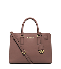 Dillon Saffiano Leather Satchel - DUSTY ROSE - 30H4GAIS3L