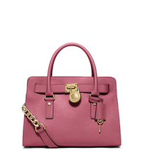 Hamilton Saffiano Leather Medium Satchel - TULIP - 30S2GHMS3L