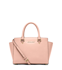 Selma Saffiano Leather Medium Satchel - PASTEL PINK - 30S3GLMS2L