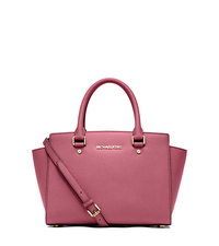 Selma Saffiano Leather Medium Satchel - TULIP - 30S3GLMS2L
