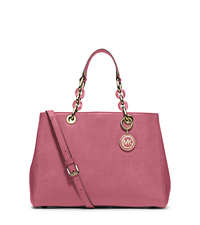 Cynthia Medium Leather Satchel - TULIP - 30S3TCYS2L