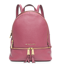 Rhea Small Leather Backpack - TULIP - 30S5GEZB1L