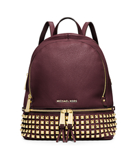 Rhea Small Studded Leather Backpack - MERLOT - 30S5GEZB5L