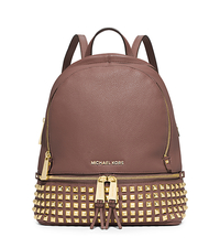 Rhea Small Studded Leather Backpack - DUSTY ROSE - 30S5GEZB5L