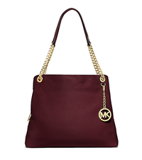 Jet Set Large Leather Tote - MERLOT - 30S5GTCE3L