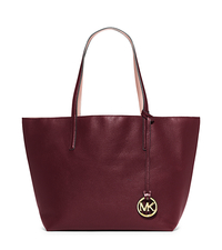 Izzy Large Reversible Leather Tote - MERLOT/PTPINK - 30S5GZYT7U