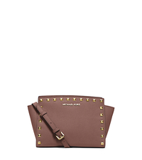 Selma Medium Studded Leather Messenger - DUSTY ROSE - 30T3GSMM2L