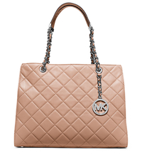Susannah Large Quilted-Leather Tote - BLUSH - 30T5SAHT3L
