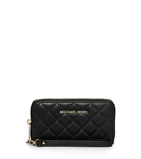 Susannah Large Quilted-Leather Phone Wristlet - BLACK - 32F5GAHZ9L