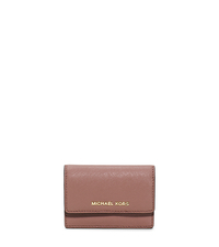 Daniela Saffiano Leather Card Holder - DUSTY ROSE - 32F5GDDD5L