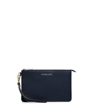 Daniela Medium Leather Wristlet - NAVY - 32F5GDDW2T