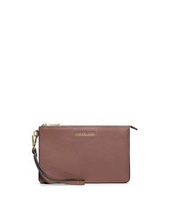 Daniela Medium Leather Wristlet - DUSTY ROSE - 32F5GDDW2T